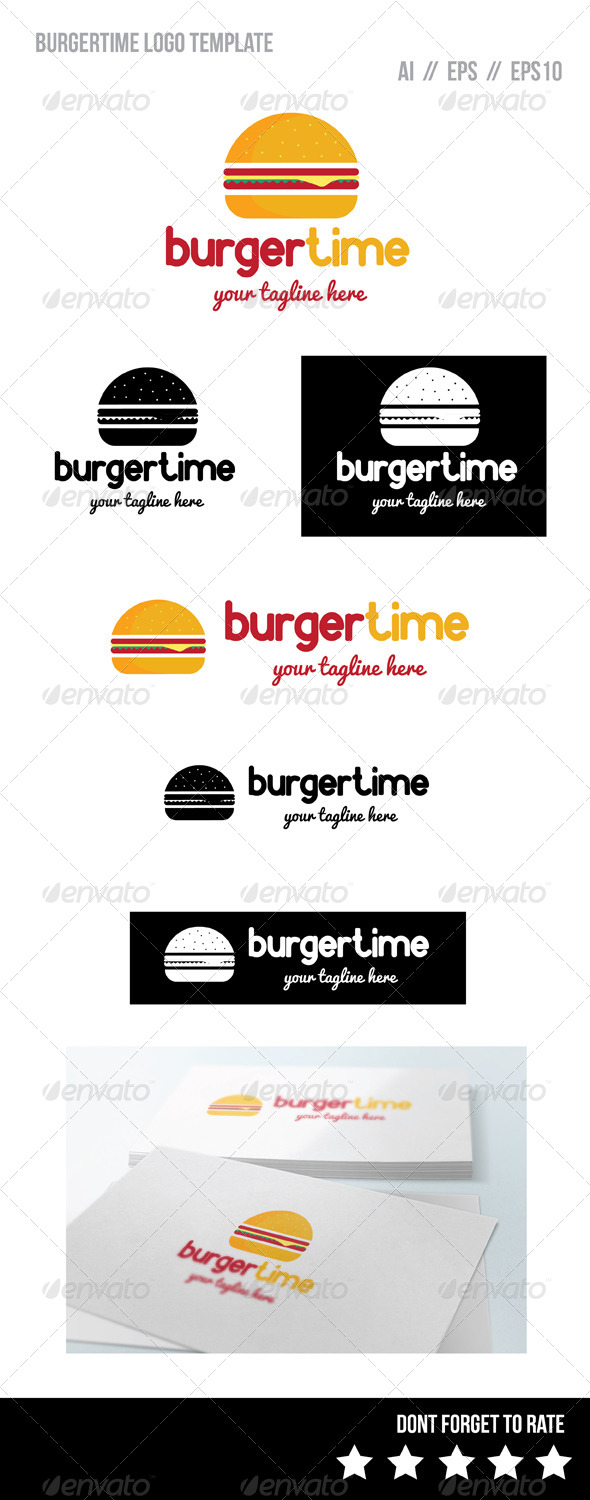 Burger Time Logo Template