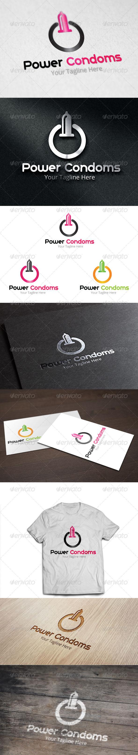 GraphicRiver Power Condoms Logo Template 8294849