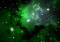 Green cold hydrogen clouds in the nebula - PhotoDune Item for Sale