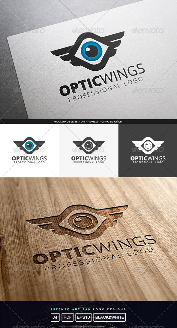 GraphicRiver Optic Wings Logo Template 8316009