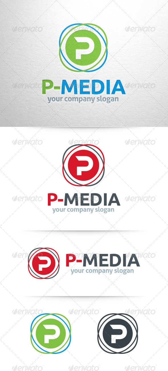 GraphicRiver Letter P Logo Template 8316019