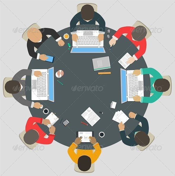 GraphicRiver Teamwork for Roundtable 8316170
