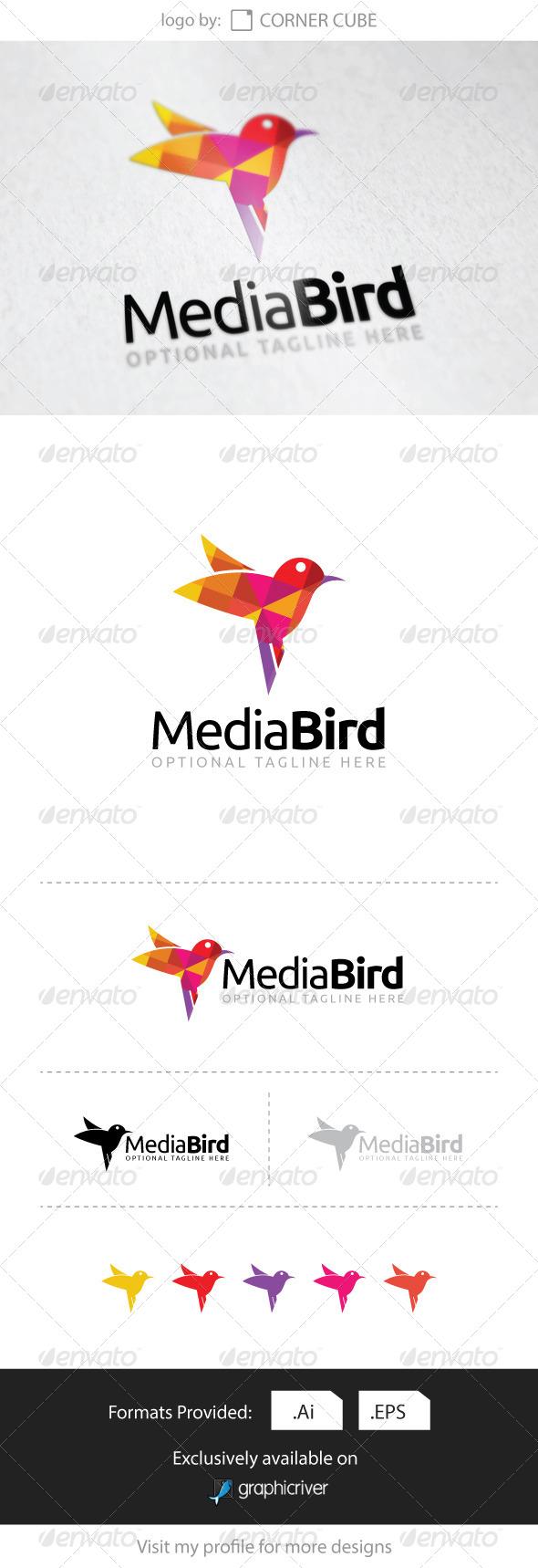 GraphicRiver Media Bird Logo 8316204