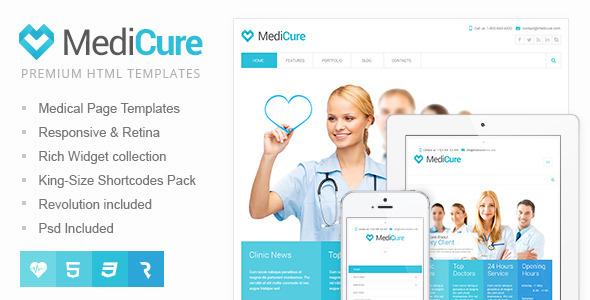 MediCure � Health & Medical HTML5 Template