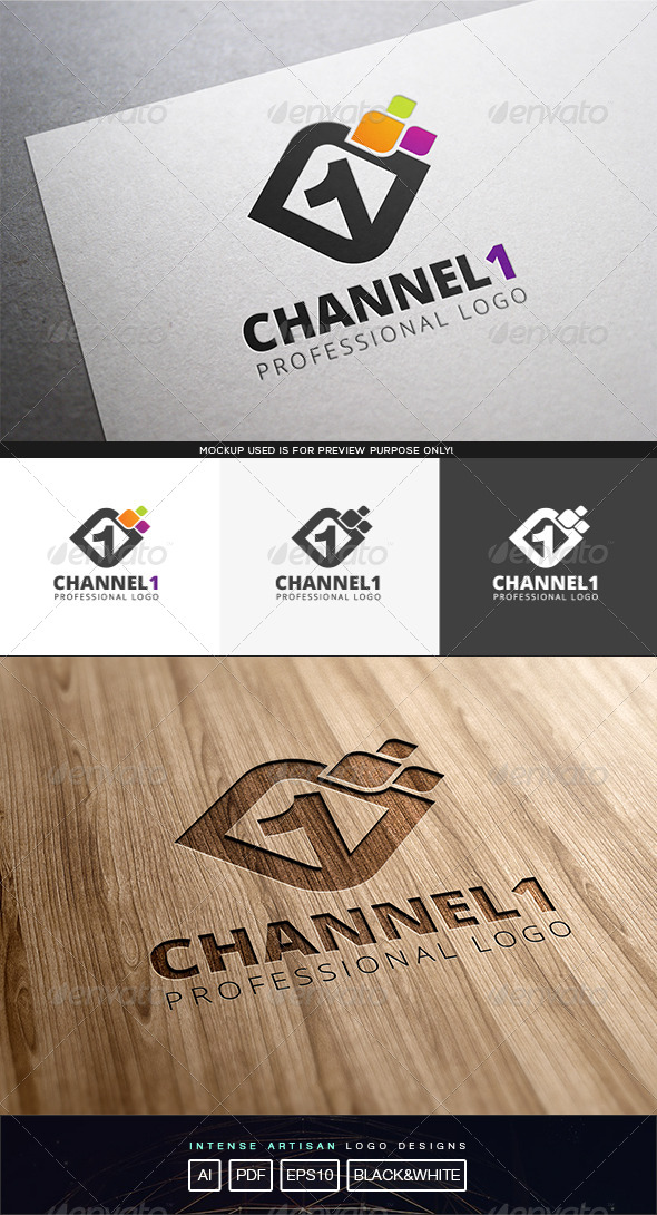 GraphicRiver Channel 1 Logo Template 8316287