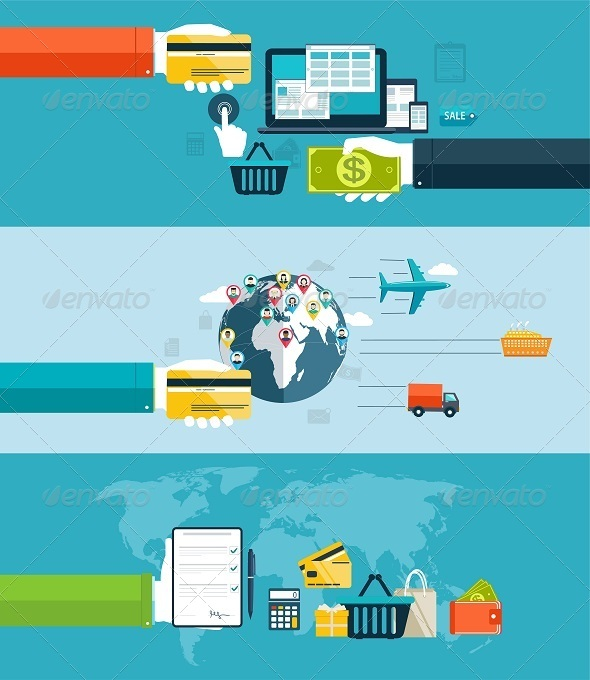 GraphicRiver Electronic Payment Methods in Internet and Shopping 8316376