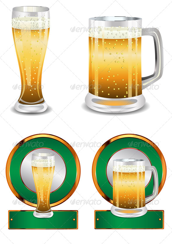 GraphicRiver Label with Beer Glass 8316395