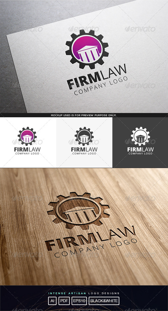 GraphicRiver Firm Law Logo Template 8316397