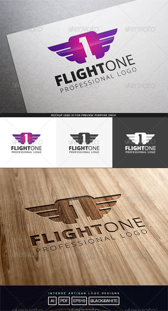 GraphicRiver Flight One Logo Template 8316646
