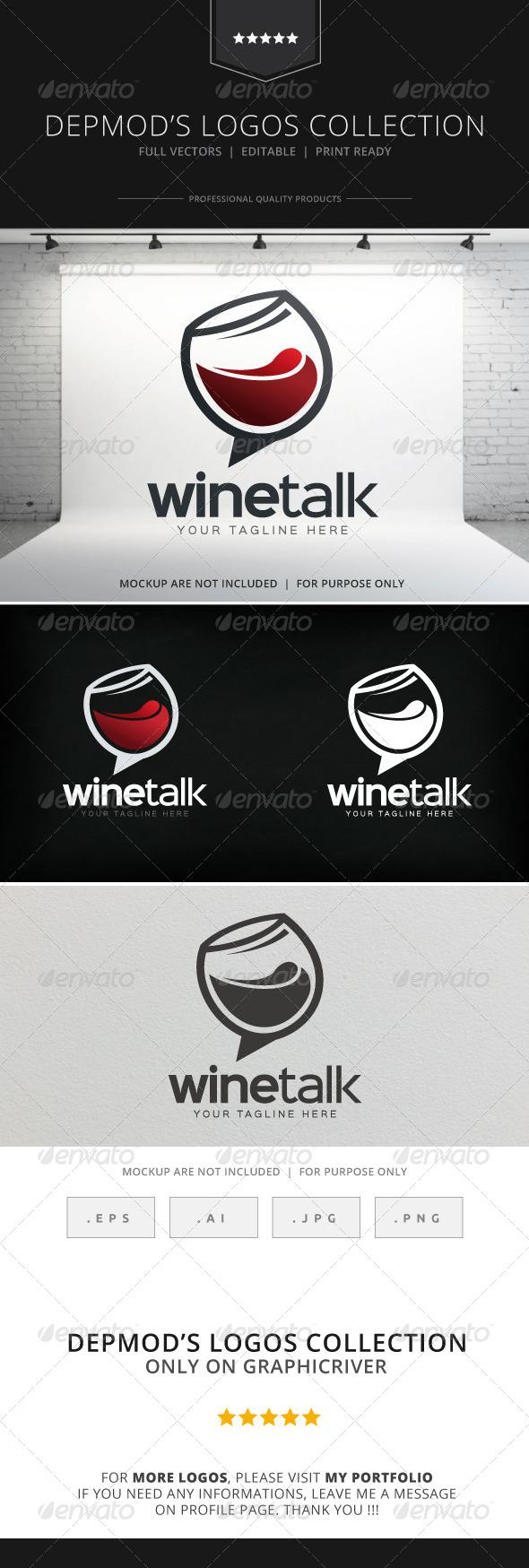 GraphicRiver Wine Talk Logo 8316716