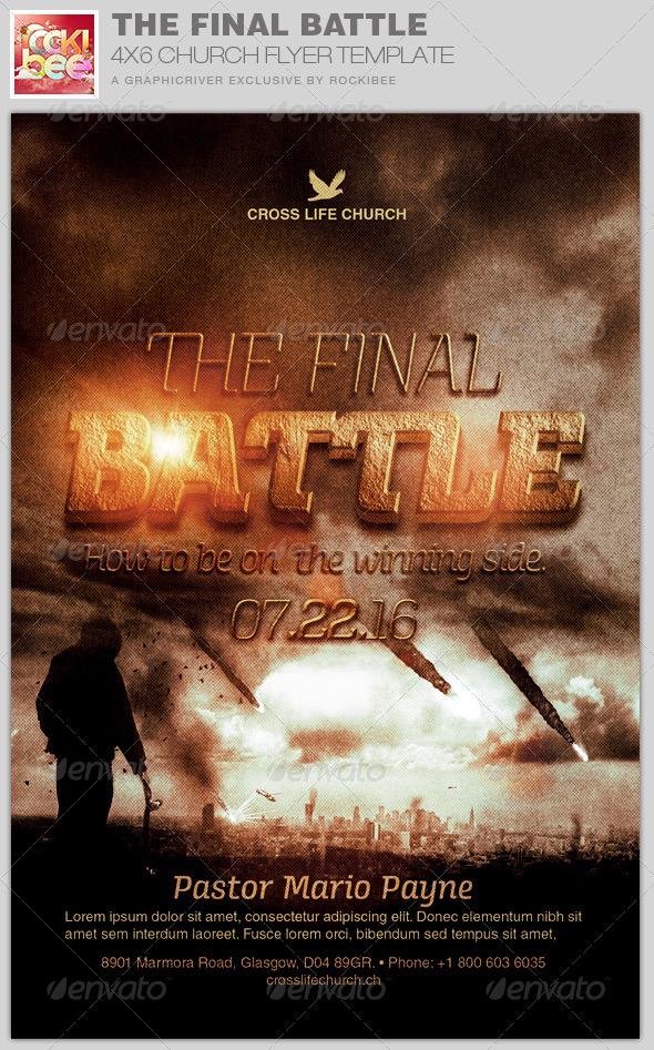 GraphicRiver The Final Battle Church Flyer Template 8316767