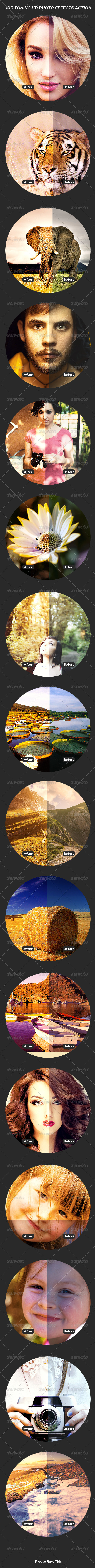 GraphicRiver HDR Toning HD Photo Effects Action 8316770