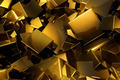 Gold 3D Metal Cubes - PhotoDune Item for Sale