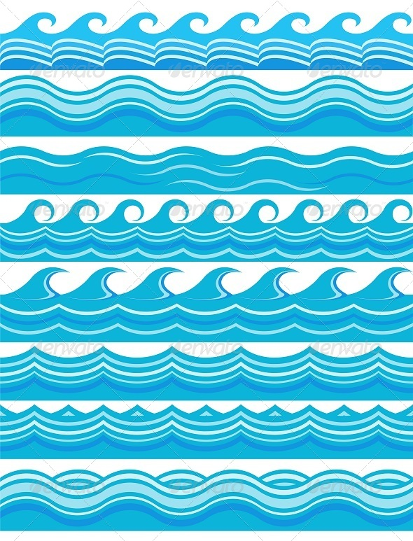 GraphicRiver Blue Wave Patterns 8316788
