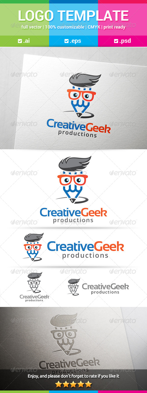 GraphicRiver Creative Geek Logo 8316794