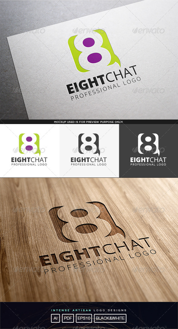 Eight Chat Logo Template