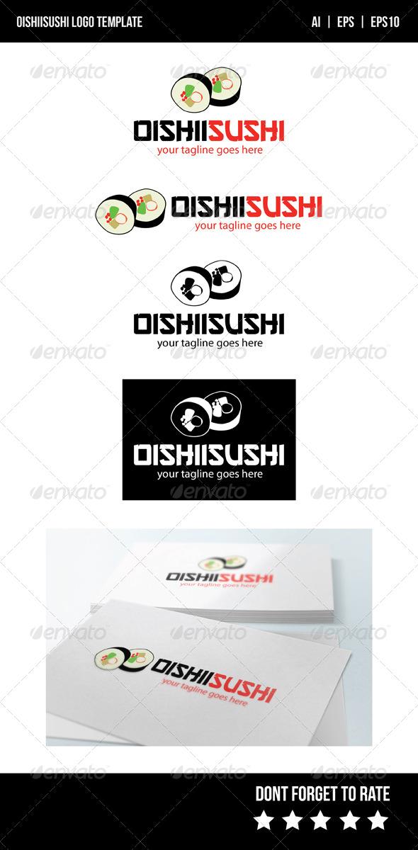 GraphicRiver Oishii Sushi Logo Template 8316936