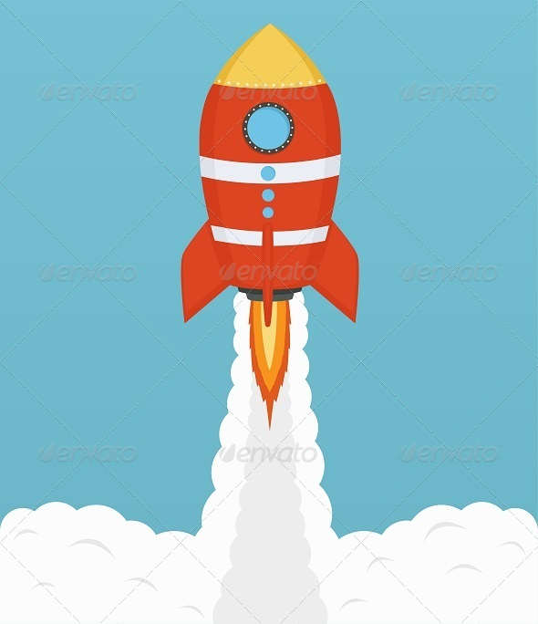 GraphicRiver Startup Cosmic Rocket 8317006