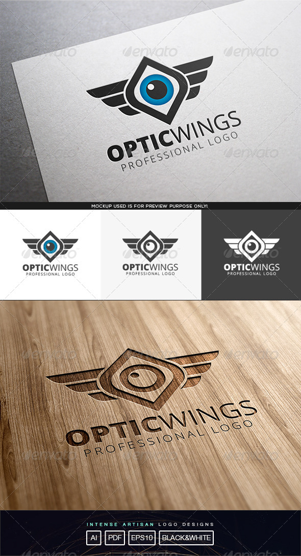 GraphicRiver Optic Wings V.2 Logo Template 8317060