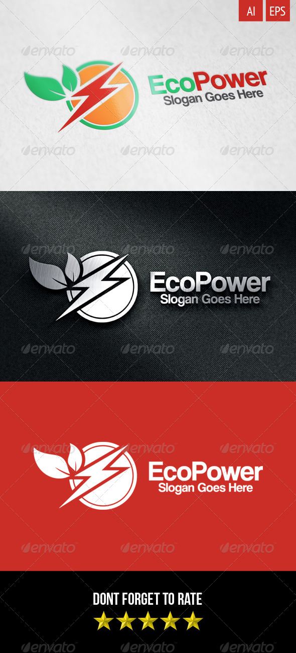 GraphicRiver Eco Power Logo 8317065