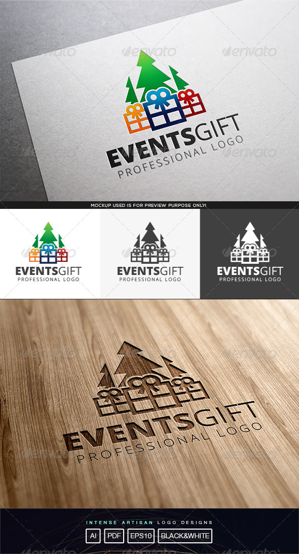 GraphicRiver Events Gift Logo Template 8317207