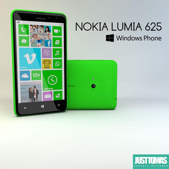 3DOcean Nokia Lumia 625 8317212