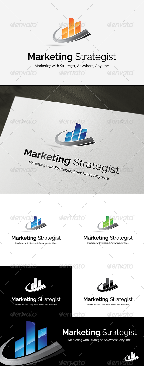 GraphicRiver Marketing Strategist Logo Template 8317213