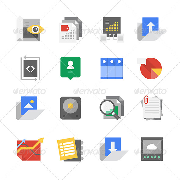 GraphicRiver Web Development and Content Technology Icons 8317258