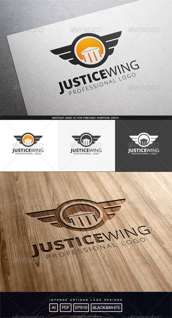 GraphicRiver Justice Wing Logo Template 8317277