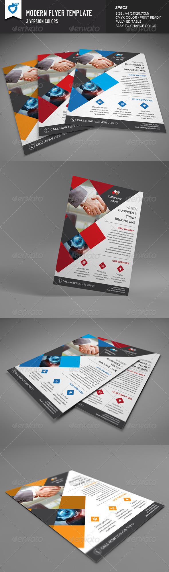 GraphicRiver Modern Flyer 8317307
