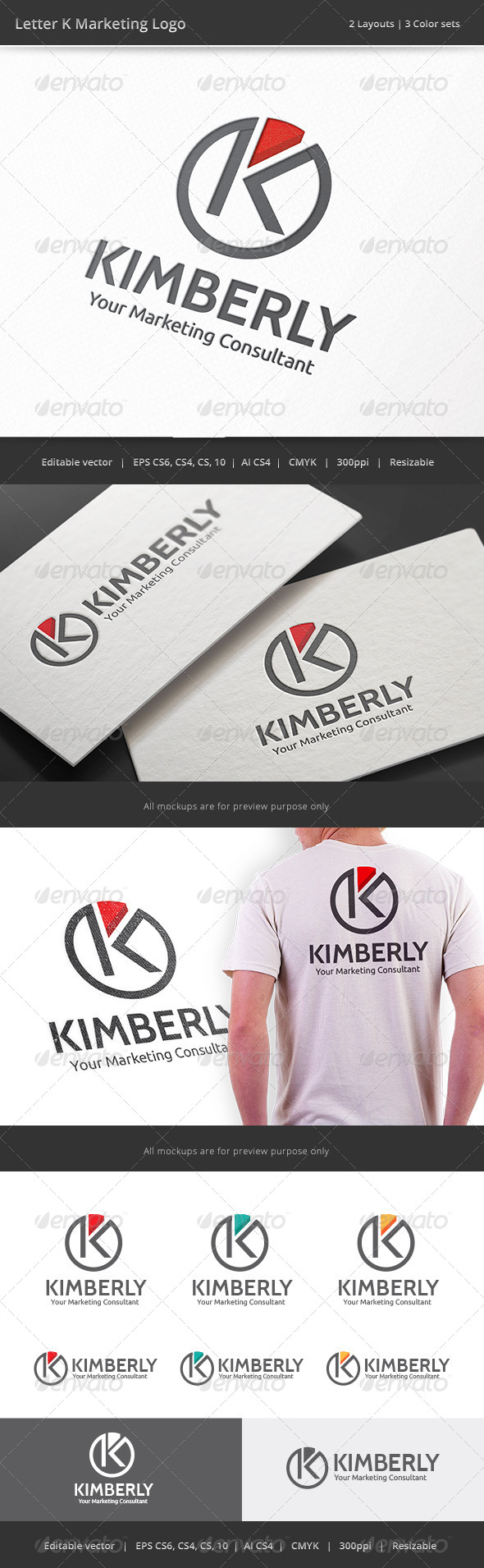 GraphicRiver Kimberly Marketing Letter K Logo 8317312