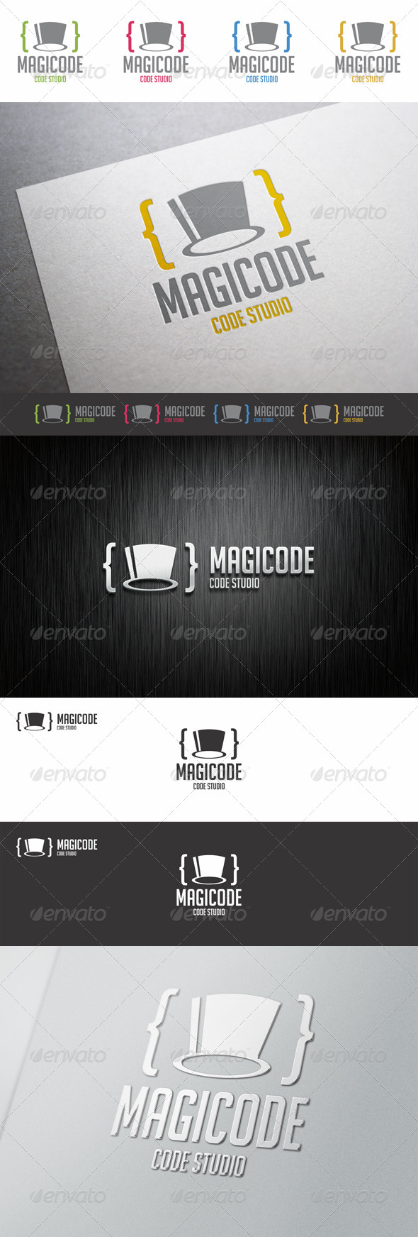 GraphicRiver Magic Code Cylinder Hat Logo 8317463