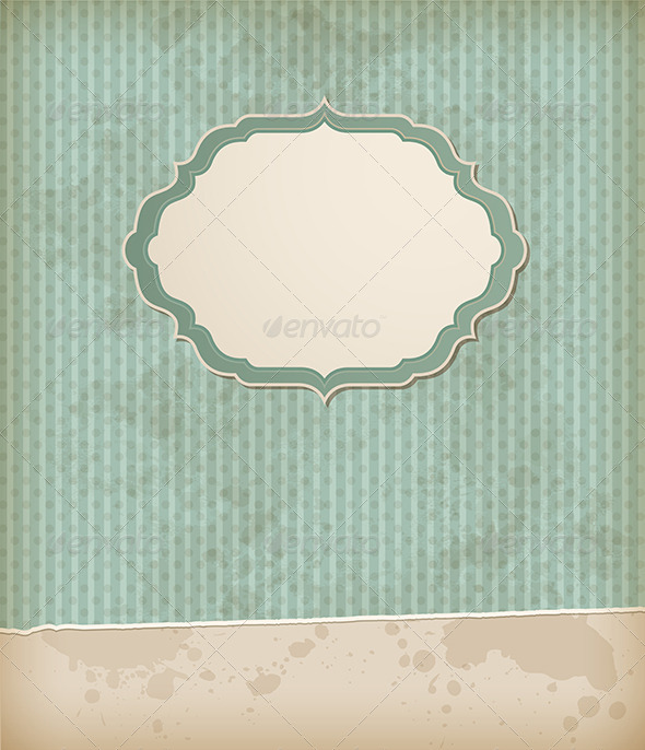 GraphicRiver Vintage Background with Label 8317464
