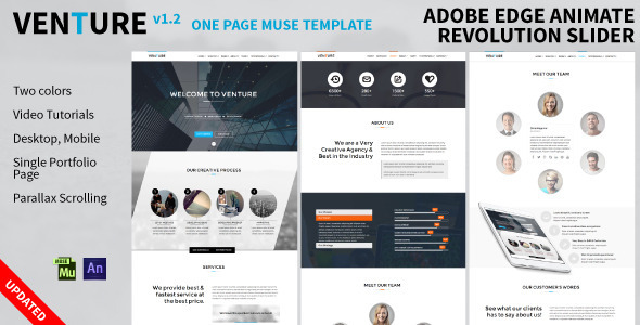 ThemeForest Venture 1 Page Edge Animate Revolution Slider 8173302