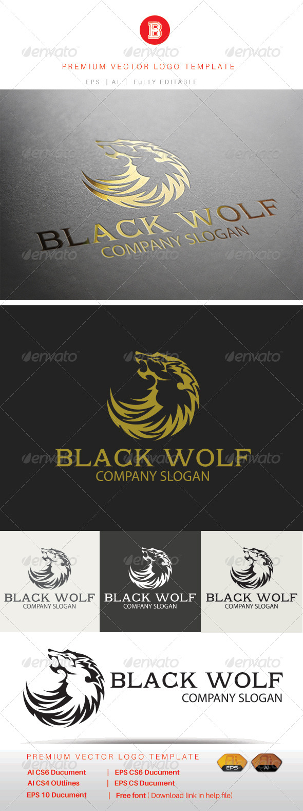 GraphicRiver Black Wolf 8317469