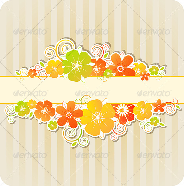 GraphicRiver Background with Flowers and Strips 8317484