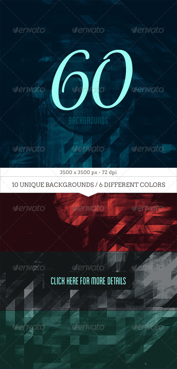 GraphicRiver 60 Geometric Textured Backgrounds 8317507