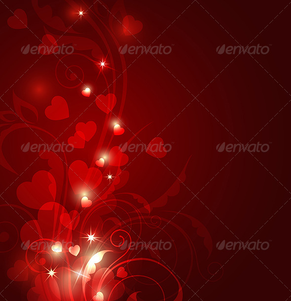 GraphicRiver Red Valentine Background 8317508