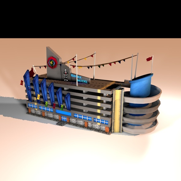 Park Car  - 3DOcean Item for Sale