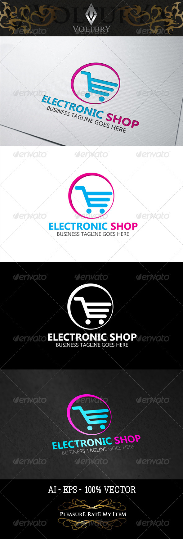 GraphicRiver Electronic Shop Logo 8317515