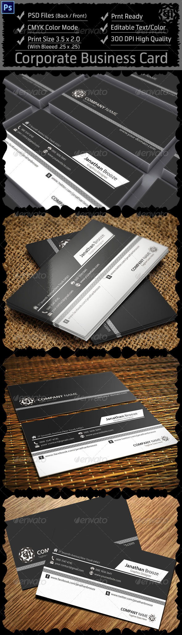 GraphicRiver Corporate Business Card 8317740