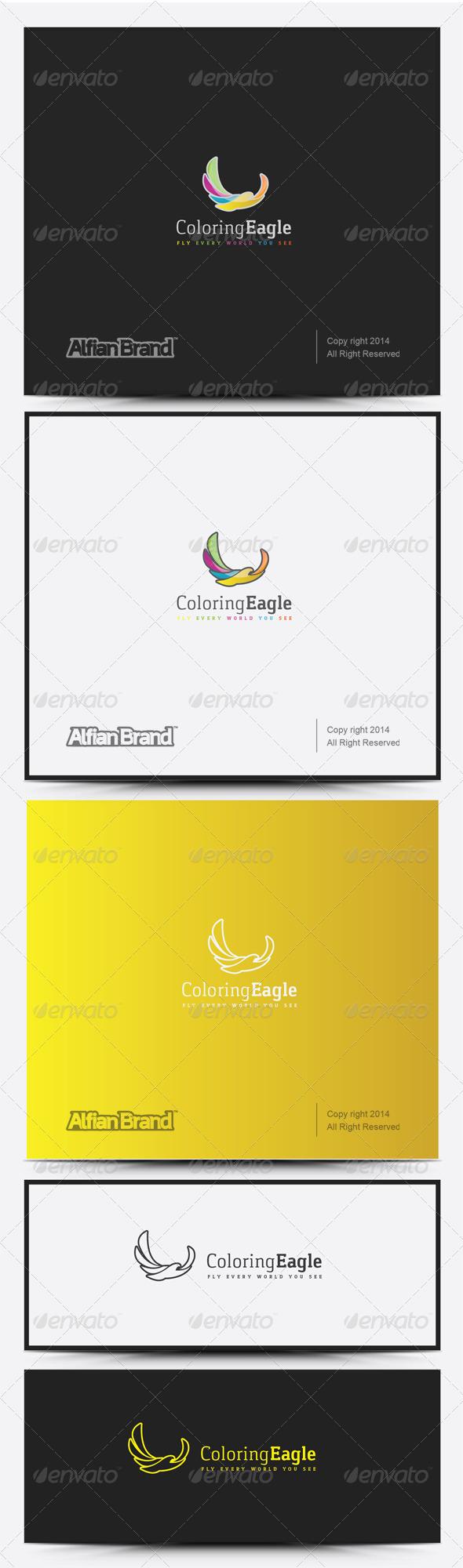 GraphicRiver Coloring Eagle Logo 8317769