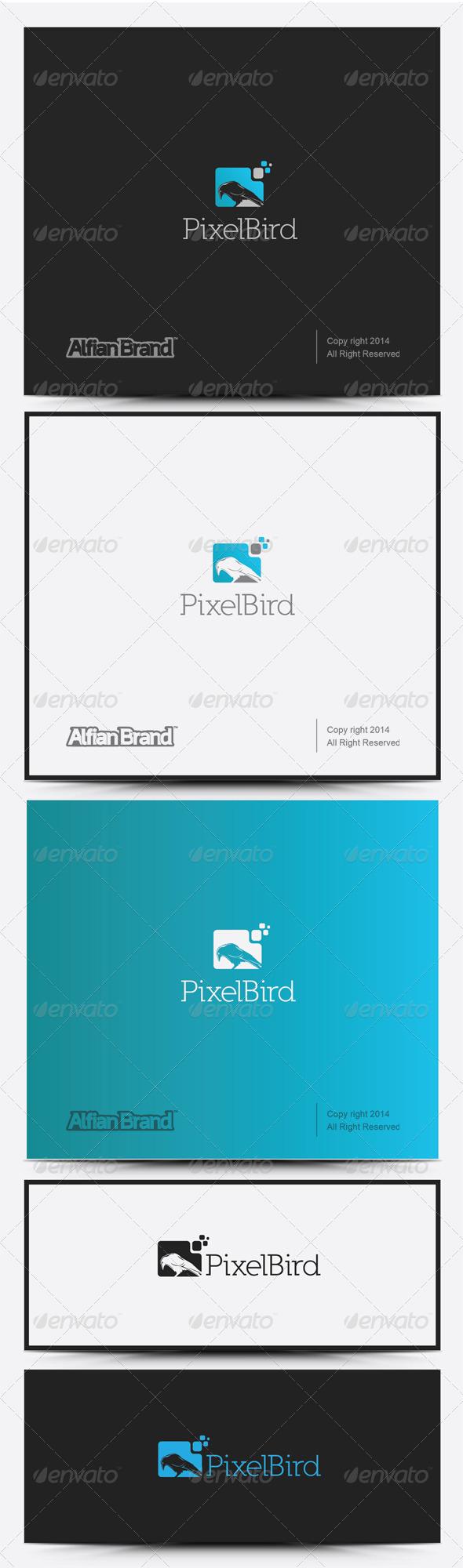 GraphicRiver Pixel Bird Logo 8317858
