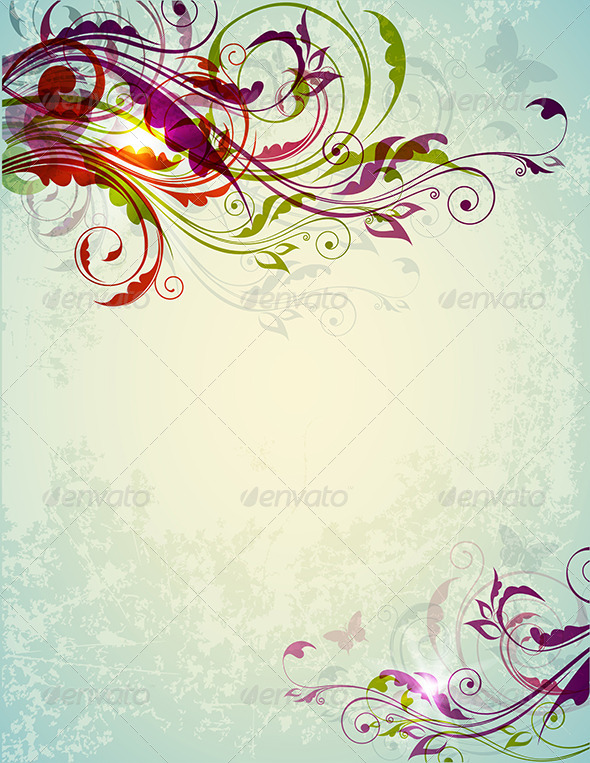 GraphicRiver Abstract Decorative Floral Background 8317860
