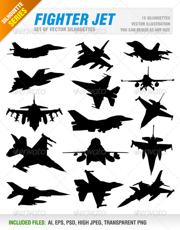 GraphicRiver Fighter Jet Set 8317861