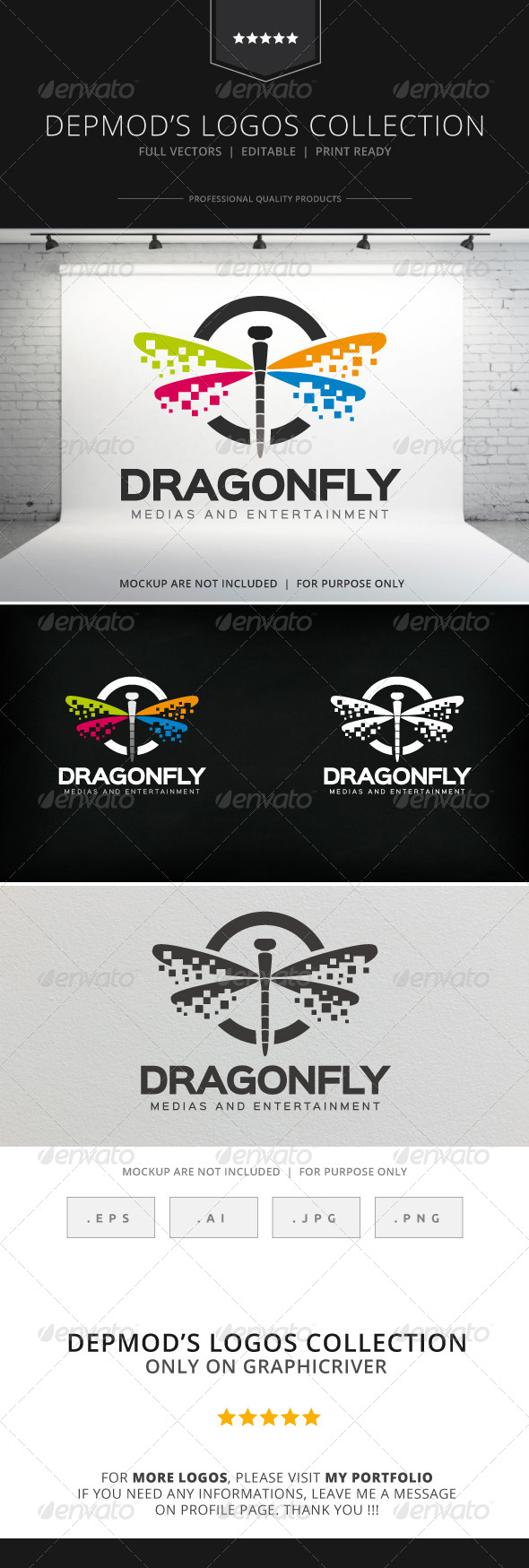 GraphicRiver Dragonfly Logo 8317862