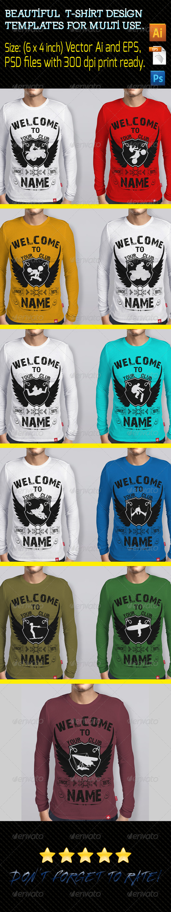 GraphicRiver T-Shirts Design Template 01 8317864