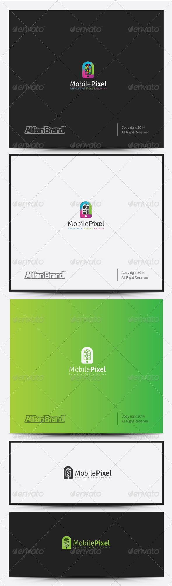 GraphicRiver Mobile Pixel Logo 8317875
