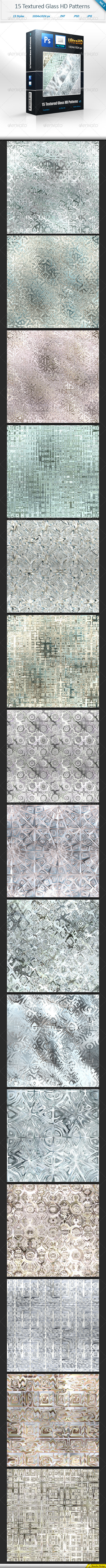 GraphicRiver Textured Glass Tileable HD Patterns vol 1 8317891