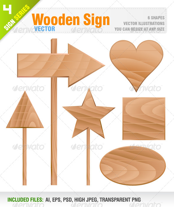 GraphicRiver Wooden Sign 8317894